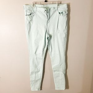 Old Navy Seafoam Ripped Jeans
